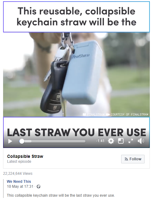 Screenshot of Last Straw Post