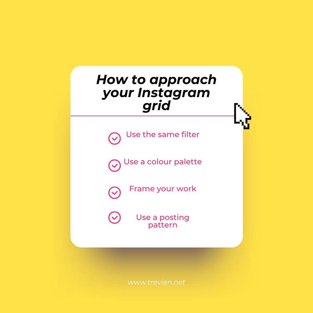 Instagram grid artist approach